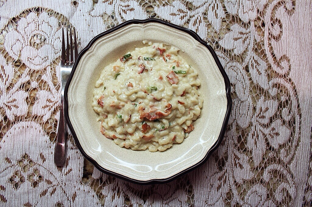 lists kitchen 01 |SPATZLE WITH SPECK IN A CREAM SAUCE